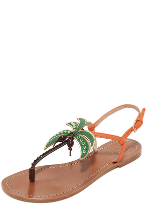 Tory Burch Castaway Flat Sandals $195 thestylecure.com