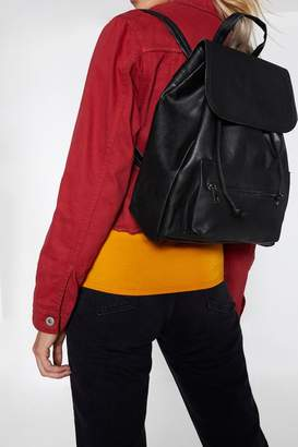 Nasty Gal WANT Stay Back Faux Leather Backpack