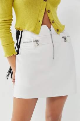 Tiger Mist Lennon Zip-Front Mini Skirt
