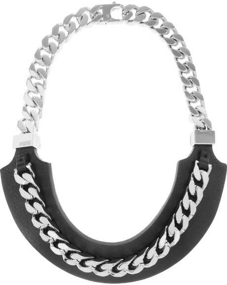 Fendi Leather and silver-tone necklace
