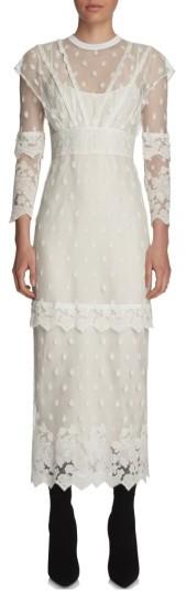 Women's Burberry Lace Midi Dress
