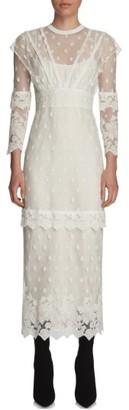 Women's Burberry Lace Midi Dress $2,595 thestylecure.com