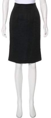 Armani Collezioni Houndstooth Knee-Length Skirt
