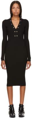 McQ Black Lace-Up Bodycon Dress