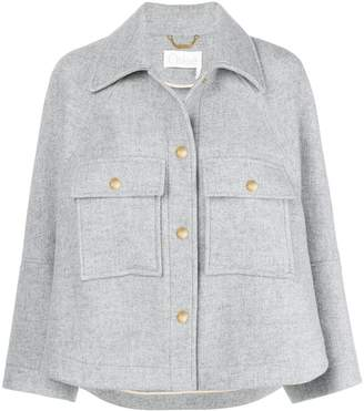 Chloé spread-collar cropped jacket