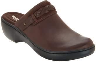 Clarks Leather Slip-on Clogs - Delana Abbey