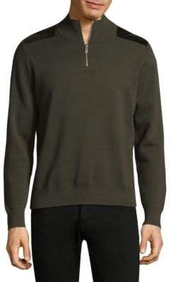 The Kooples Quarter Zip Wool Pullover