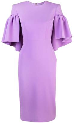 Alex Perry structured shoulders dress