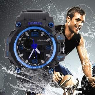 DAY Birger et Mikkelsen Feel Skmei Trendy 10 Digits Digital Men'S Student Watch 50m Waterproof Big Dial LCD Second Week Hour Minutes Display Watch