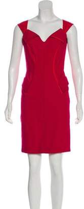 Zac Posen Silk-Trimmed Wool Dress