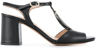 Albano oval disc sandals