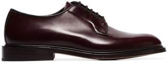 Tricker's Trickers burgundy Robert patent leather lace up shoes