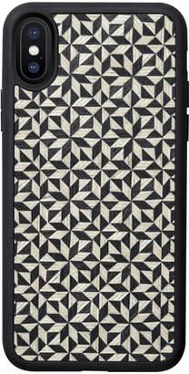 Tarxia Kaleidoscope Ebony Wood Inlay iPhone Case