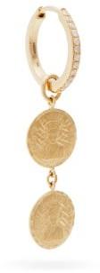 Anissa Kermiche Louise Dor 18kt Gold & Diamond Single Earring - Womens - Gold