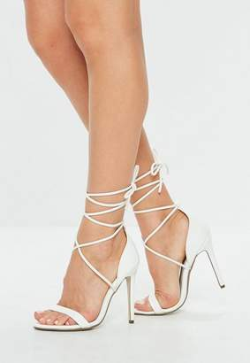 Missguided Lace Up Barely There Heels