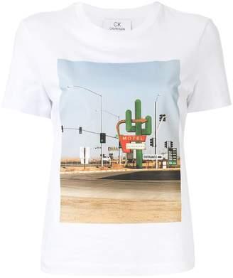 CK Calvin Klein cactus print T-shirt