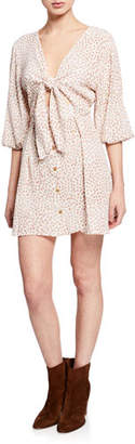 Faithfull The Brand Trinidad Ditsy Floral Crepe Short Dress
