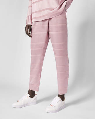 Ted Baker STELLER Striped wrap front trousers