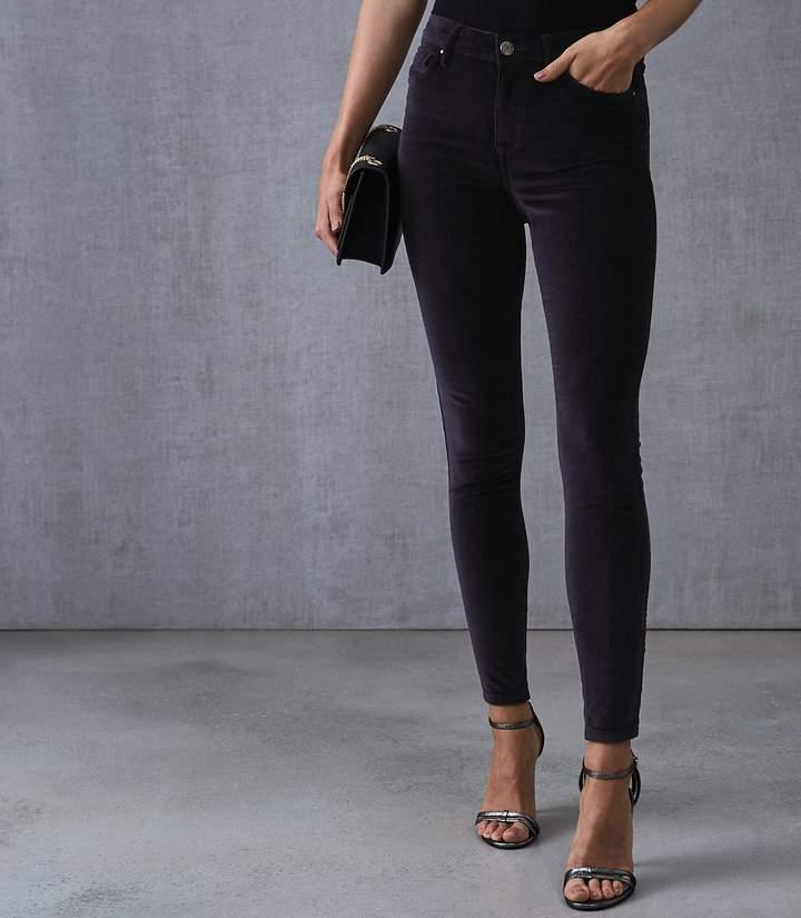 Lux Velvet Velvet Mid Rise Skinny Jeans