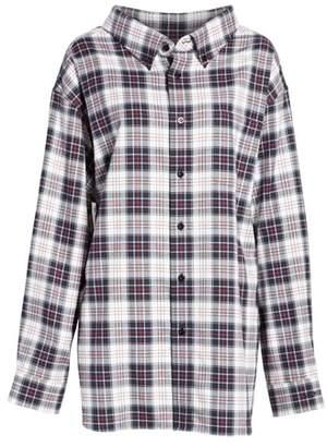Balenciaga Swing Plaid Flannel Shirt