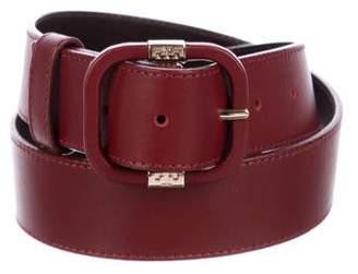 Tory Burch Leather Logo Belt