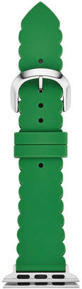 Kate Spade Women Green Silicone Apple Watch Strap