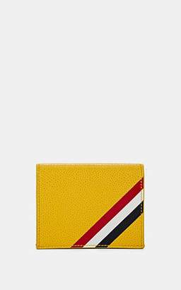 Thom Browne Men's Folding Leather Card Case - Yellow