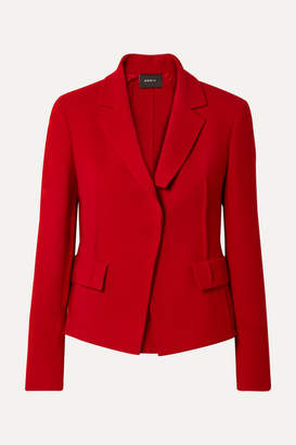 Akris Aada Wool-crepe Blazer - Red