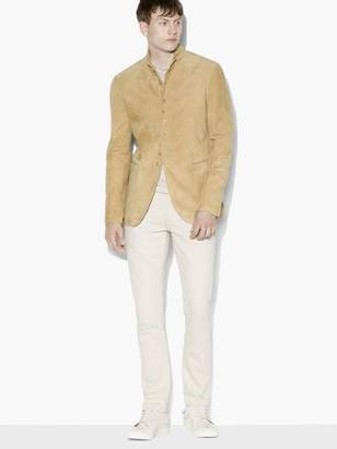 John Varvatos Suede Multi-Button Jacket