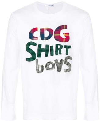 Comme des Garcons Boys printed sweatshirt