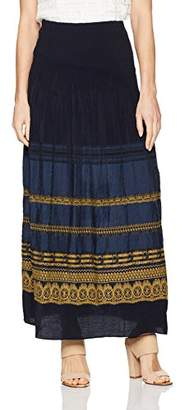Max Studio Women's Smocked Jacquard Maxi Skirt