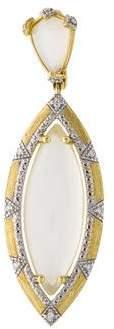 Jude Frances 18K Moonstone & Diamond Lisse Pendant