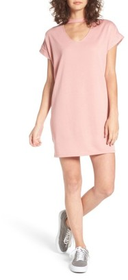 Women's Cotton Emporium Sweatshirt Choker Dress $39 thestylecure.com