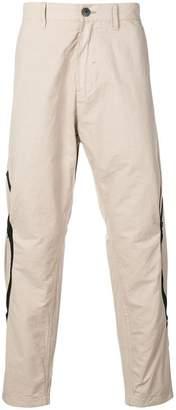 Stone Island Shadow Project beige lightweight zip trousers