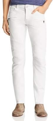Hudson Blinder Biker Slim Fit Jeans in Dirty White