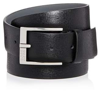 HUGO BOSS Men's Clo 3.0 Embossed Leather Belt