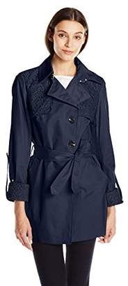 Sam Edelman Women's Trench with Lace Details