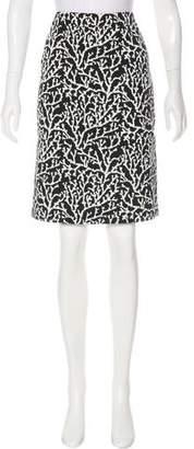 Les Copains Printed Knee-Length Skirt