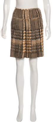 Gianni Versace Silk Printed Skirt