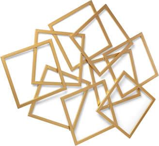 Linea Furniture Gold Geometric Metal Wall Accent