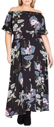 City Chic Blossom Festival Maxi Dress