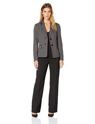 Le Suit Women's 1 Button Shawl Collar Novelty Pant Suit