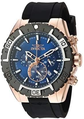 Invicta Men's 'Aviator' Quartz Gold and Silicone Casual Watch