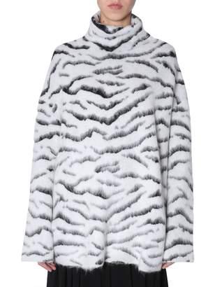 Givenchy Jacquard Zebra Pullover
