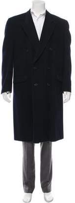 Valentino Wool Peak-Lapel Overcoat