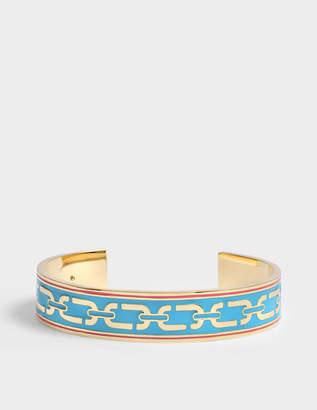 Marc Jacobs Double J Enamel Printed Chain Cuff Bracelet in Blue Enamel