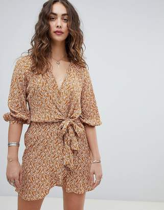 Free People Clara floral print tunic dress