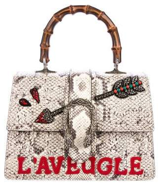 Gucci Python Embellished Dionysus Top Handle Bag