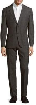HUGO BOSS Window Pattern Wool Suit