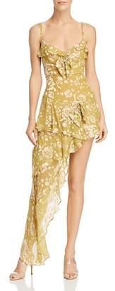 For Love & Lemons Cosmo Asymmetric Mini Dress